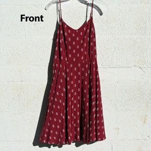 Cranberry Red Boho 90's Dress